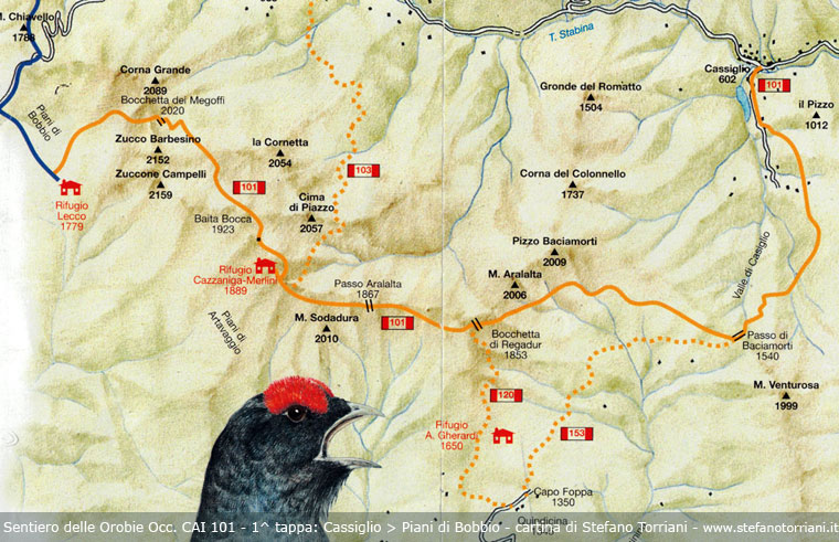 Sentiero delle orobie occidentali 101 1 tappa cassiglio for Piani di piani di casa