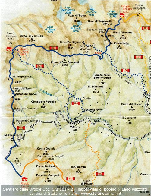 Sentiero delle orobie occidentali 101 2 tappa piani di for Piani di piani di casa